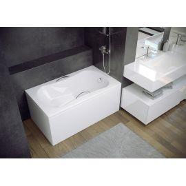 Ванная сидячая 120х70 Aria Rehab с сиденьем.