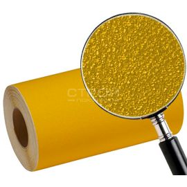 Зернистость противоскользящей желтой полосы