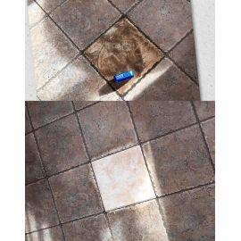 Пример очистки плитки All Forte