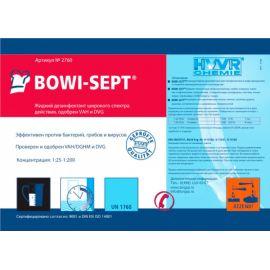 Этикетка средство с дезинфицирующим эффектом BOWI-SEPT