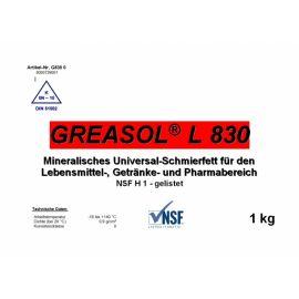 Универсальная смазка пищевая  Greasol L830 ( Гриазол Л 830) для отраслей пищевой промышленности.
