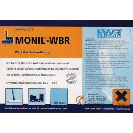 Этикетка профессионального моющего средства для уборки Monil-WBR MONIL-WBR.