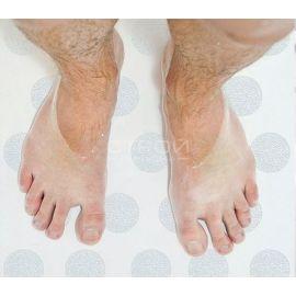 Круглые белые элементы - защита от падения в ванной