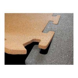 Комбинируйте плитки Puzzle Standart из резиновой крошки разного цвета