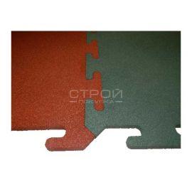 Терракотовая Резиновая плитка Rubblex Standart Puzzle 100х100х2,5 см