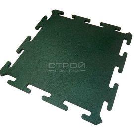 Зеленая плитка Puzzle Standart из резиновой крошки