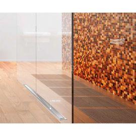 Интерьер душевой комнаты с линейным трапом Confluo Premium Line от PESTAN.