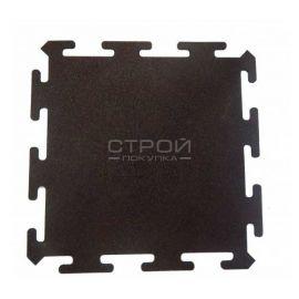 Черная плитка Puzzle Standart из резиновой крошки