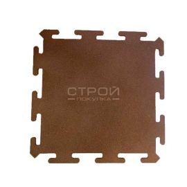 Коричневая плитка Puzzle Standart из резиновой крошки