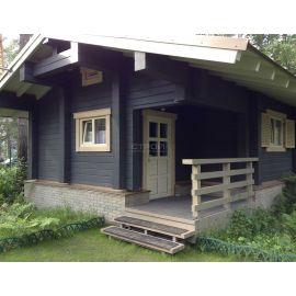 Дом в республике Алтай  покрытый защитной глазурью Wood Stain.