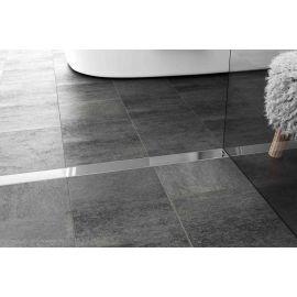 Душевой лоток Alpen Klasic/Floor в интерьере с декоративной решеткой.