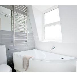 Акриловая ванна для ванных комнат Praktika Besco L в интерьере.