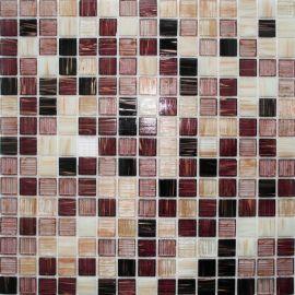 коричнево-бордовый микс мозаики с добавление бежевых чипов