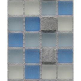 GS083 мозаика 15х15 мм из стекла и камня