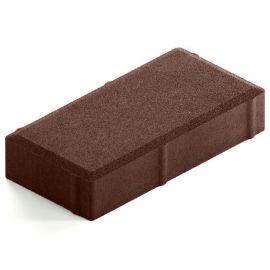 Темно-коричневая брусчатка Лайт 40 для пешеходных зон