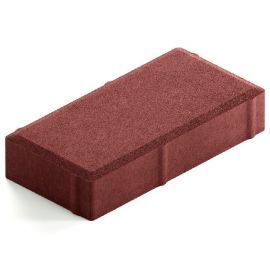 Брусчатка Лайт 40 темно-красная 20х10х4 см
