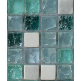 GS095В мозаика 15х15 мм колотый лед