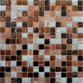 Смесь мозаики из коричневых и белых чипов с авантюрином