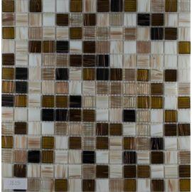 Коричнево-белый микс мозаики с авантюрином