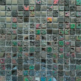 DGS030 мозаика 15х15 мм из стекла и камня