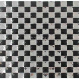 зеркальная мозаика черно-белая