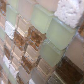 GS011 мозаика 15х15 мм из стекла и камня