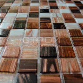 Коричневый мозаичный микс на сетке