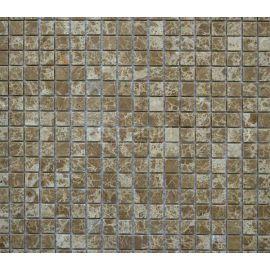 Мозаика из камня в бежево-коричневом цвете