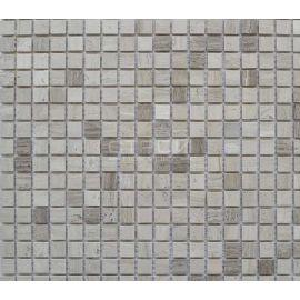 Светло-коричневая мозаика из камня