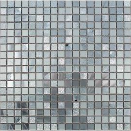 Зеркальная мозаика А1501 серебро со стразами