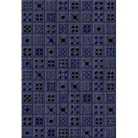 Калипсо 2 Панно 27,5х40 декор настенный синего цвета под мозаику