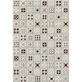 Калипсо 7 Панно 27,5х40 декор настенный белого цвета под мозаику