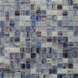 Голубая стеклянная мозаика JS-02