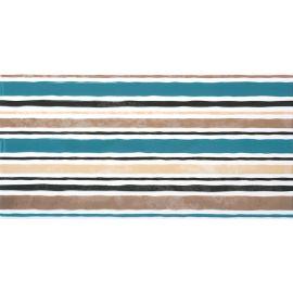 Дюна 2 Панно тип-1 30х60 декор настенный микс полос из бежевого и бирюзового цветов