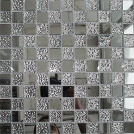 CY817 зеркальная мозаика серебро
