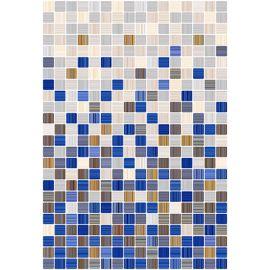 Гламур 2С 27,5х40 настенная плитка микс синих и бежевых оттенков под мозаику