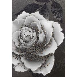 Монро 5 тип-1 27,5х40 декор настенный черного цвета с белой розой