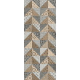Невада Панно тип-2 20х50 декор настенный микс бежевого и серого цветов с орнаментом
