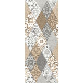 Невада Панно тип-1 20х50 декор настенный микс бежевого и серого цветов с орнаментом