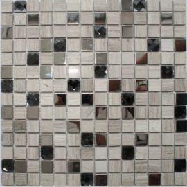 Мозаика из натурального камня P20 серого цвета