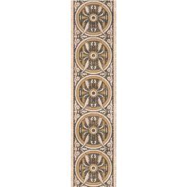 Палермо 40х9,8 бордюр-декор напольный бежевого цвета с орнаментом