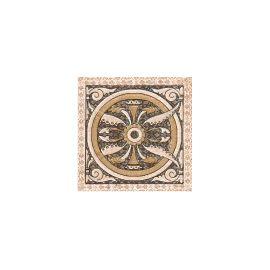 Палермо Вставка 9,8х9,8 декор напольный бежевого цвета с орнаментом