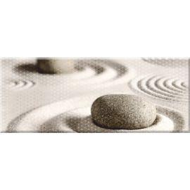 Концепт 7 К тип-2 20х50 декор настенный светло-коричневого цвета с камнями на песке