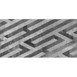 Нью-Йорк Панно 30х60 декор настенный серого цвета с абстракцией