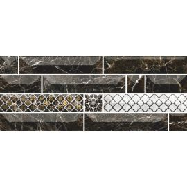 Атлантида 1 20х50 декор настенный черного цвета с 3D эффектом