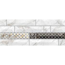 Атлантида 7 20х50 декор настенный белого цвета с 3D эффектом