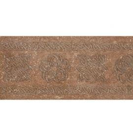 Декорированный коричневый подступенник Stone Brown 15x33 см