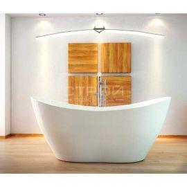 Цветная ванна из литьевого мрамора Mineral DuraBe модель Viya  с душевой системой.