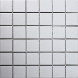Керамическая белая мозаика White Matt 4,8х4,8 см