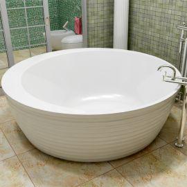 Boomerang Vayer круглая ванна из акрила в интерьере.